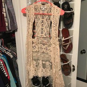 Crotchet vests 🙃 size L